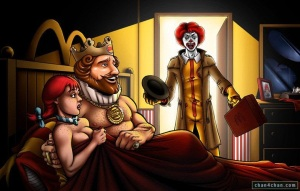 Wendy can't resist the King. Have it your way!